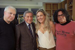 Rumble creators Stevie Salas, Catherine Bainbridge, Tim Johnson, and Tony Bennett.