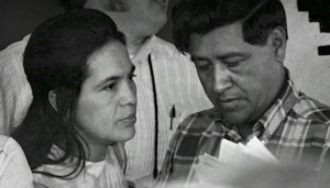 Dolores Huerta and Cesar Chavez