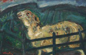 Chaim Soutine, Sheep Behind a Fence, (circa 1940)