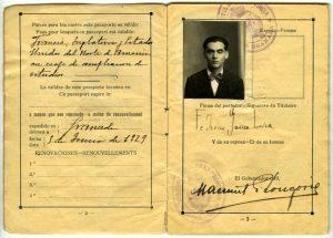 Federico García Lorca's passport