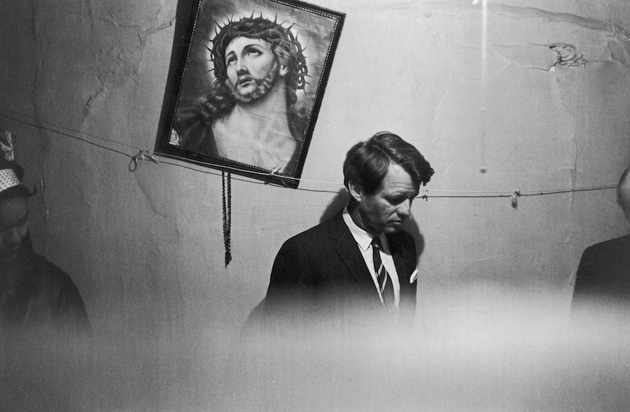 Fred W. McDarrah: Robert Kennedy in Stanton Street apartment once occupied by Senator Jacob Javits, May 8, 1967