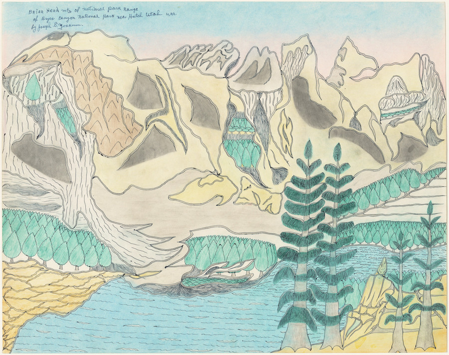 Joseph Yoakum, Briar Head Mtn of National Park Range of Bryce Canyon National Park near Hatch, Utah U.S.A., c. 1969