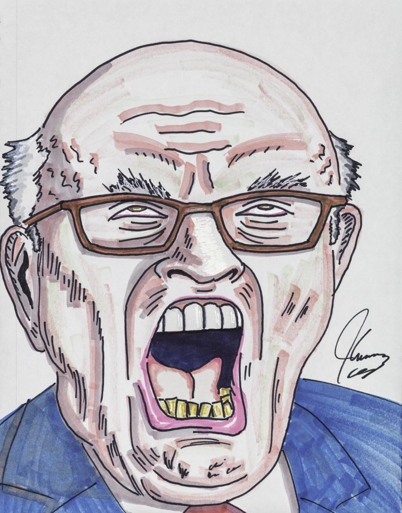 Jim Carrey, Giuliani Doesn't Bleach the Bottom Teeth