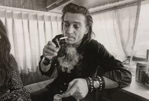 "Annie Liebowitz, ""Dripping Springs Reunion,"" Dripping Springs, Texas, 1972. Waylon Jennings"