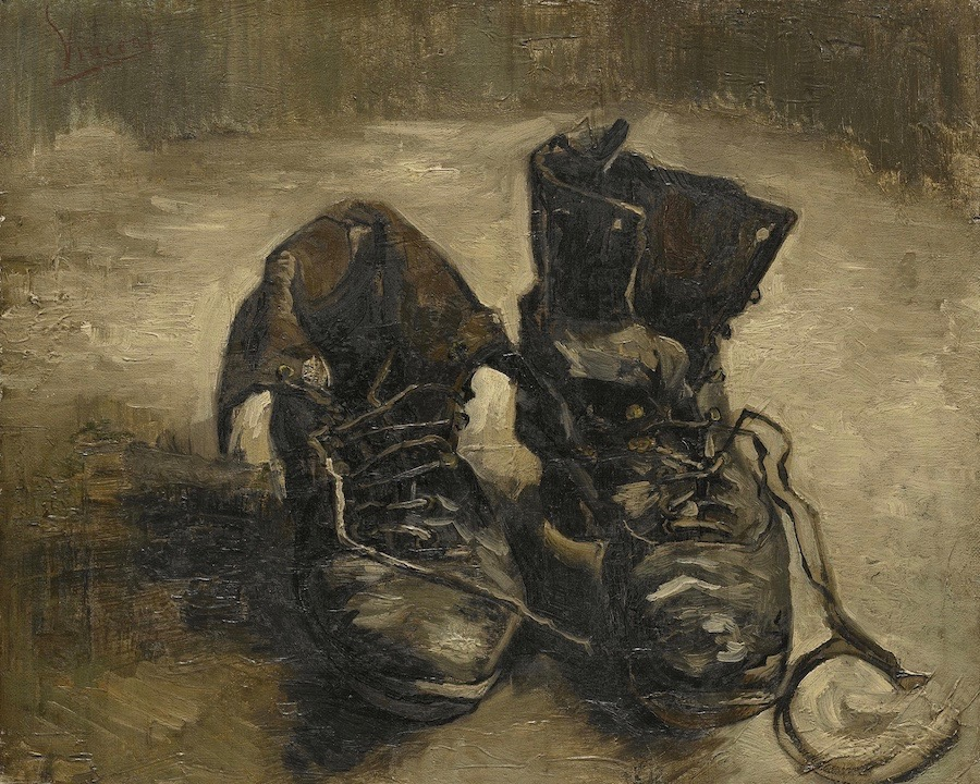 "Vincent van Gogh's ""Shoes."" A review of Van Gogh and Britain, at Tate London, is at Riot Material Magazine."