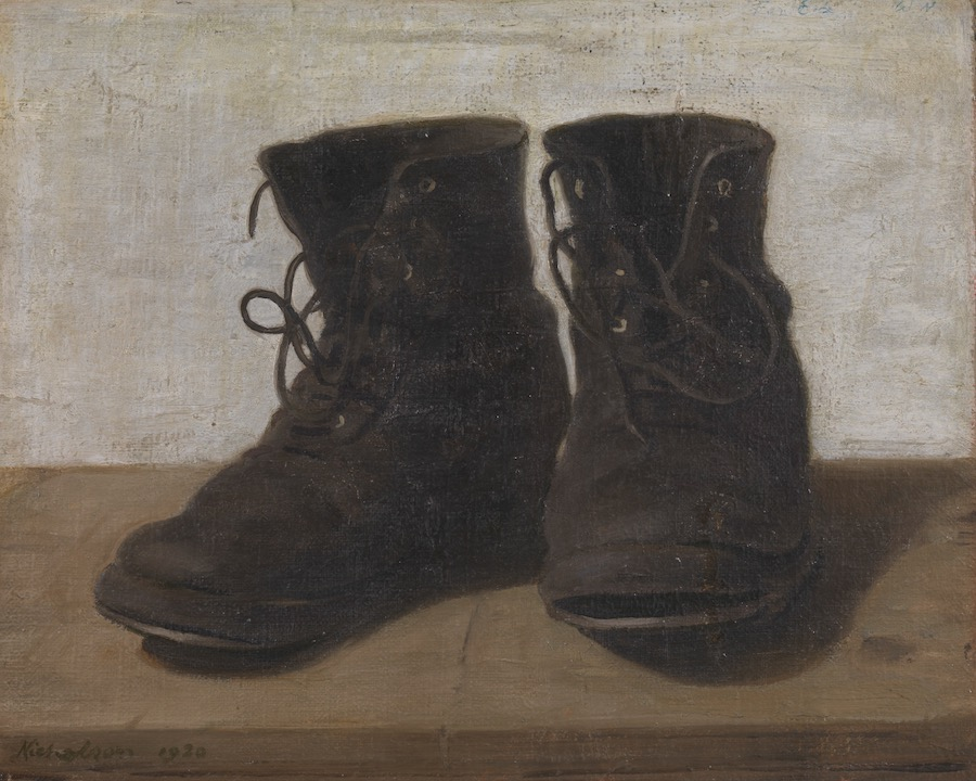 "William Nicholson's ""Miss Jekyll's Gardening Boots."" A review of Van Gogh and Britain, at Tate London, is at Riot Material Magazine."