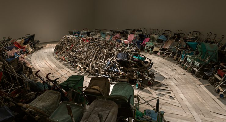 """Nari Ward, """"Amazing Grace."""" Ward's exhibition, We The People, is reviewed at Riot Material Magazine"""