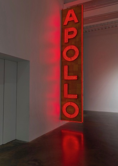 "Nari Ward, ""Apollo/Poll."" Ward's exhibition, We The People, is reviewed at Riot Material Magazine."