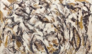 Lee Krasner, Polar Stampede, 1960. Lee Krasner: Living Colour is reviewed at Riot Material Magazine.