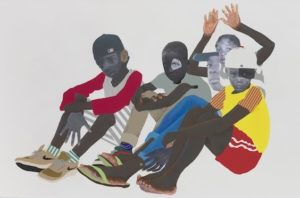 Deborah Roberts' Native Sons: Many thousands gone, at Susanne Vielmetter Los Angeles, is reviewed at Riot Material, LA's premier art magazine