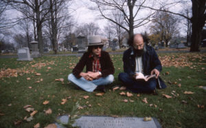 Bob Dylan and Allen Ginsberg. Rolling Thunder Revue: A Bob Dylan Story by Martin Scorsese is reviewed at Riot Material, LA's premier magazine for art and film.