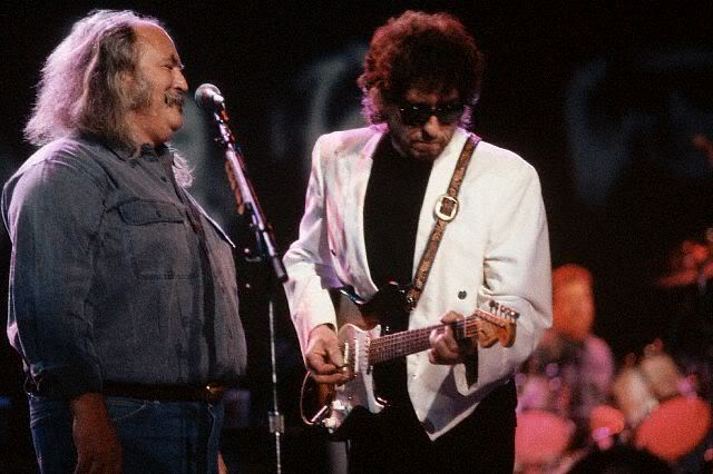 David Crosby and Bob Dylan. An interview with Crosby is at Riot Material magazine.