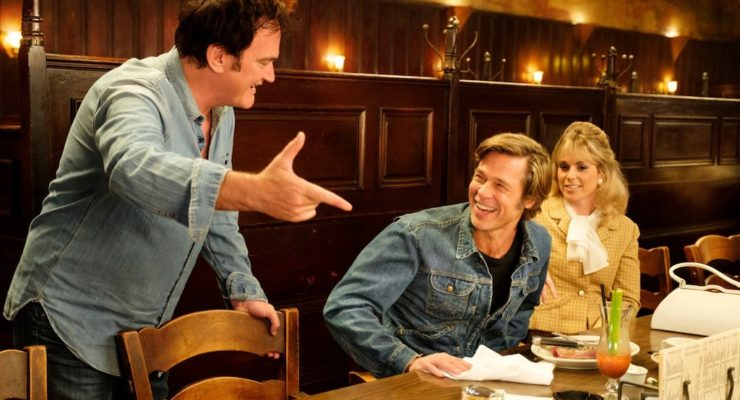 Quentin Tarantino on the set of Once Upon A Time In...Hollywood, reviewed at Riot Material magazine.