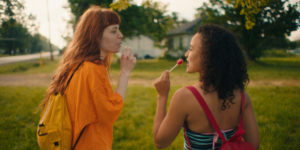 Michaela Kurimsky and Karena Evans in Firecrackers, reviewed at Riot Material, LA's premier magazine for art and film.