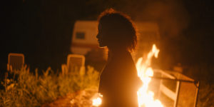 Karena Evans in Firecrackers, reviewed at Riot Material, LA's premier magazine for art and film.
