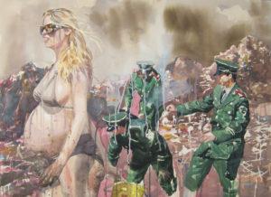 "Austin Stiegemeier, ""The Global Community."" An interview with Stiegemeier is at Riot Material, LA's premier art magazine."