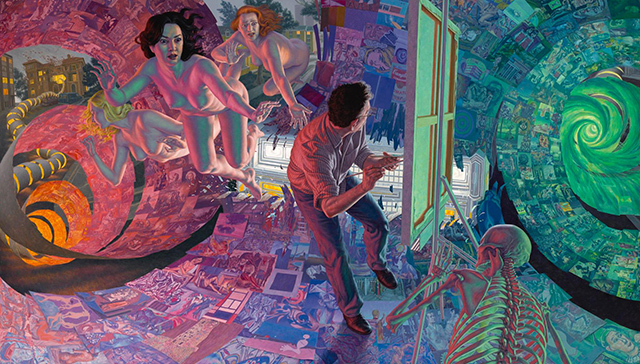 Artist F Scott Hess, in Narrative Painting in LA, reviewed at Riot Material magazine.