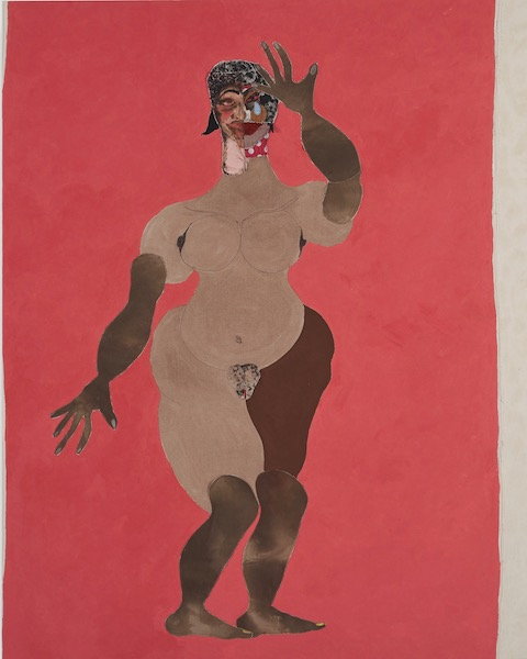 Tschabalala Self in Punch, at Jeffrey Deitch, Los Angeles. Reviewed at Riot Material magazine.