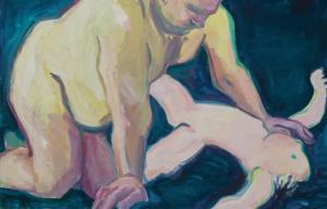 Maria Lassnig's Bugbear (detail).