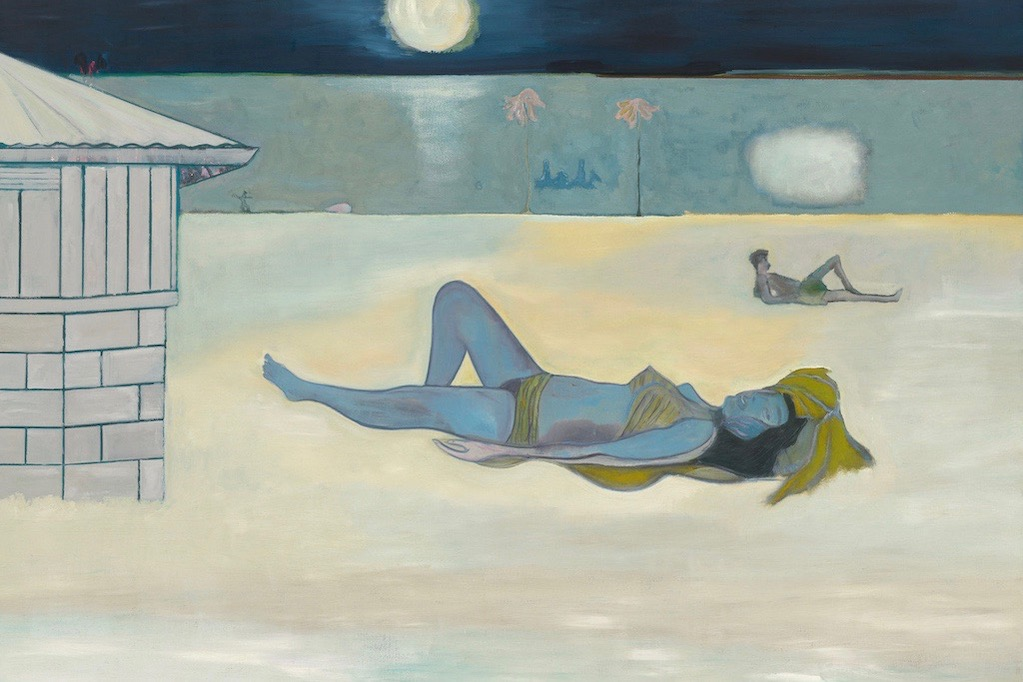 Peter Doig, Night Bathers. Doig's latest exhibition is reviewed at Riot Material magazine.