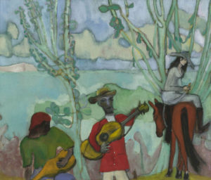 Peter Doig, Music (2 Trees). Doig's latest exhibition is reviewed at Riot Material magazine.