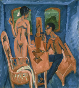 Ernst Ludwig Kirchner, Tower Room Fehmarn, 1913. A review of Kirchner's exhibition at Neue Museum, NYC, is at Riot Material, LA's premier art magazine.