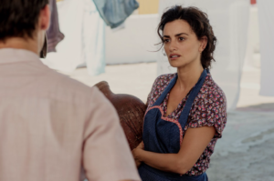 Penélope Cruz in Pain and Glory (Dolor y gloria), directed by Pedro Almodóvar and reviewed at Riot Material magazine.