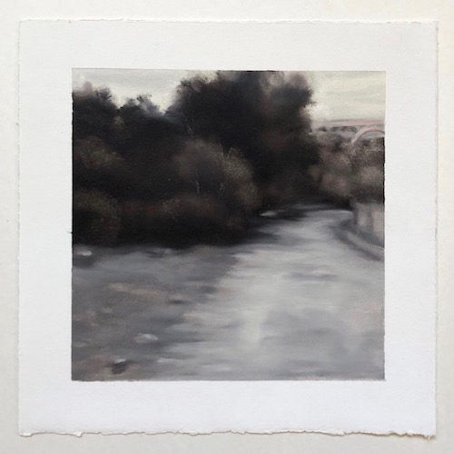 Lynne McDaniel,Bridge. A review of McDaniel's current exhibition, A Love Letter, is reviewed at Riot Material magazine.
