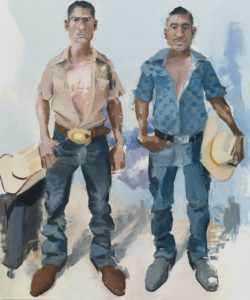 "ohn Sonsini ""Byron & Fernando,"" 2019. Review of Cowboy Stories at Riot Material magazine."