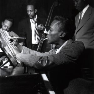 Miles Davis, Percy Heath, Gil Goggins, and Jimmy Heath, NYC, 1953. Jimmy Heath, his obit and a story of his life is at Riot Material Magazine. LA's premier Jazz mag.