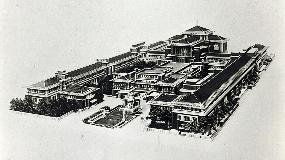 Frank Lloyd Wright's Imperial Hotel, Tokyo Japan