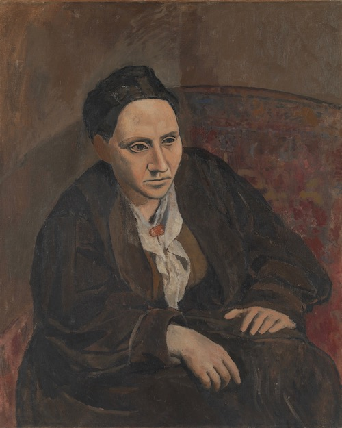 "Pablo Picasso, Gertrude Stein, 1905–1906. The Met's ""Painter of Disquiet is reviewed at Riot Material magazine."