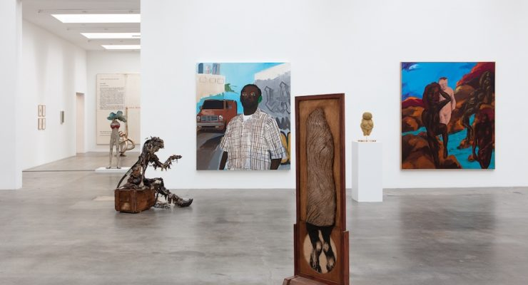 Installation view of New Images of Man, curated by Alison M. Gingeras, Blum & Poe, Los Angeles, 2020