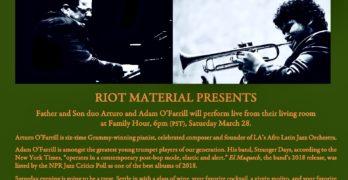 Arturo and Adam O'Farrill at Riot Material
